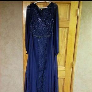 Teri Jon Roll Neck Party Dress